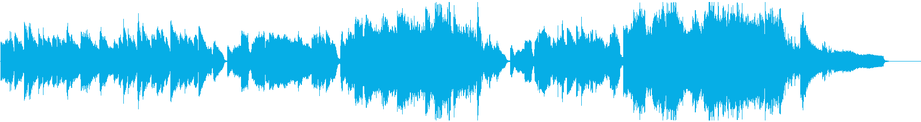晴れやかなバイオリンとピアノによるワルツの再生済みの波形