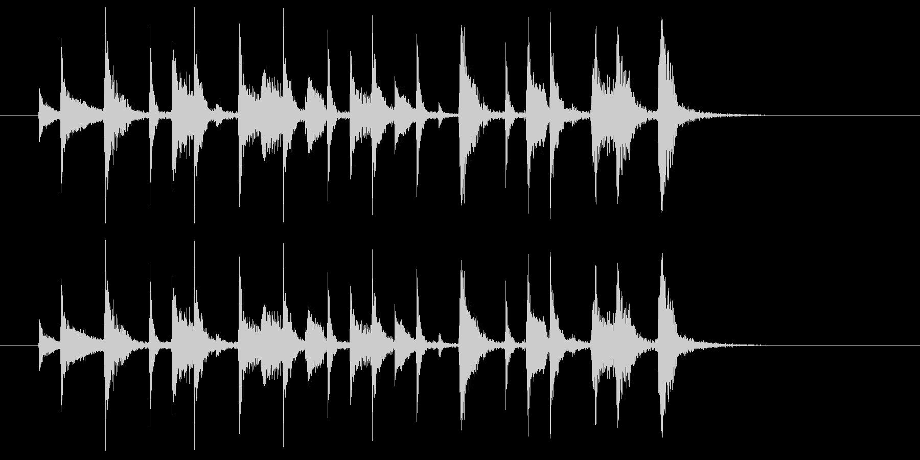 ジャジーなジングル(アイキャッチ等に)の未再生の波形