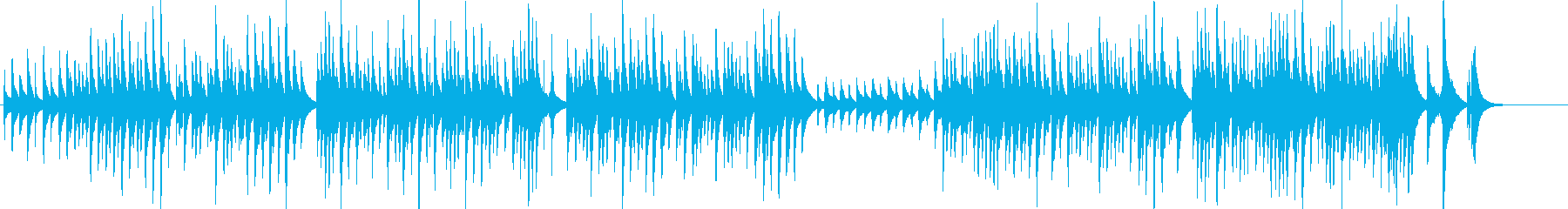 【動物動画】コミカルな雰囲気の木琴の再生済みの波形