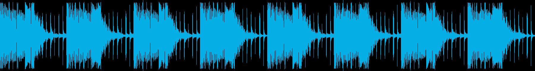 ベル音を使った不気味な緊張感あるシーンの再生済みの波形