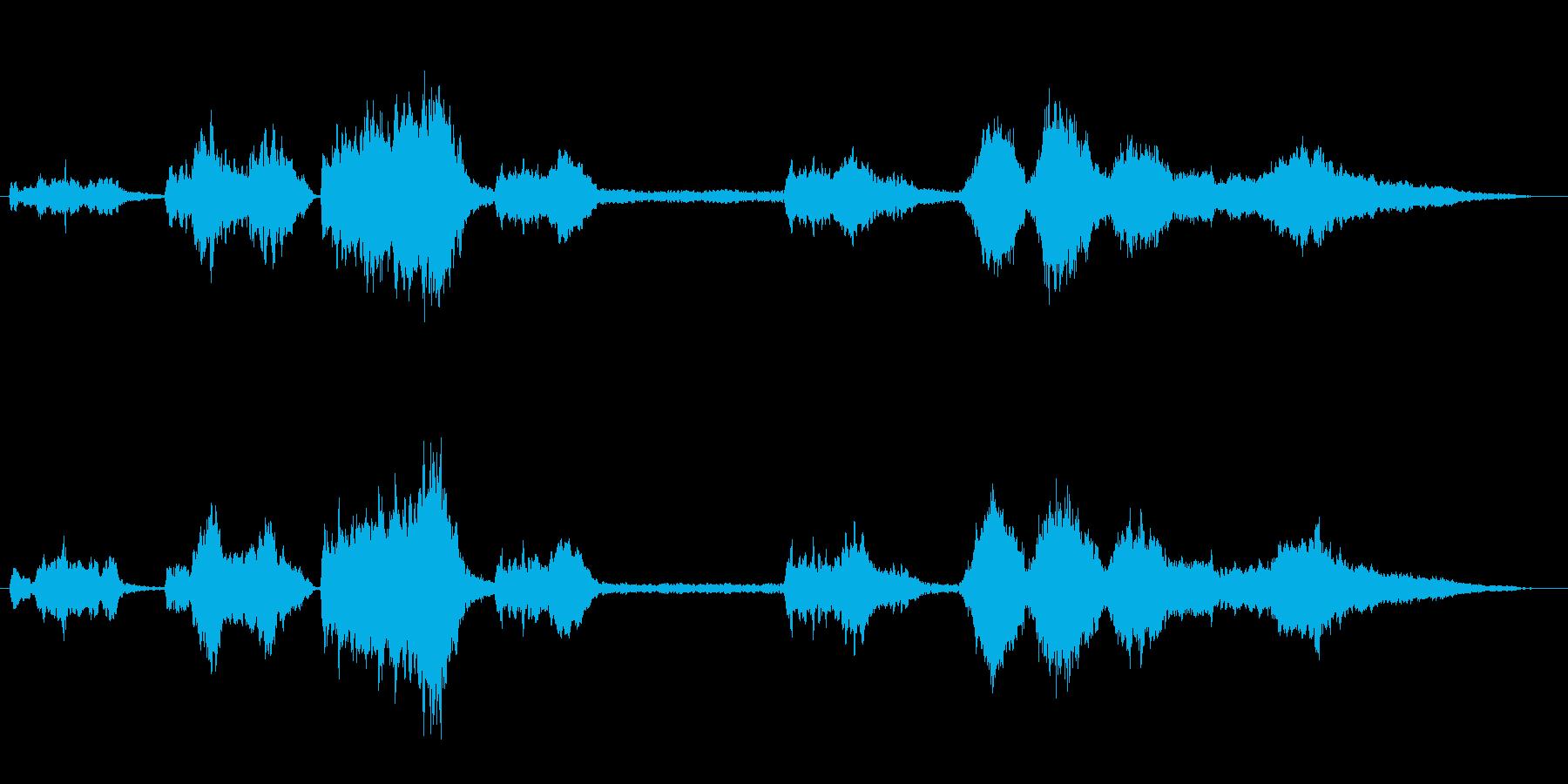切なくてダークな映画音楽風BGMの再生済みの波形