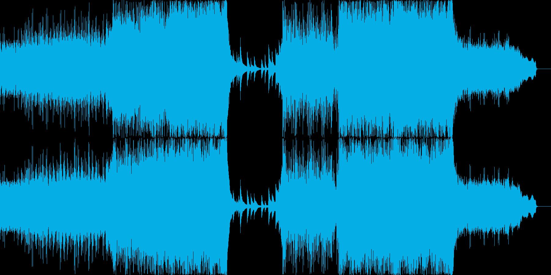 シンフォニックな壮大さとピアノ・ギターの再生済みの波形