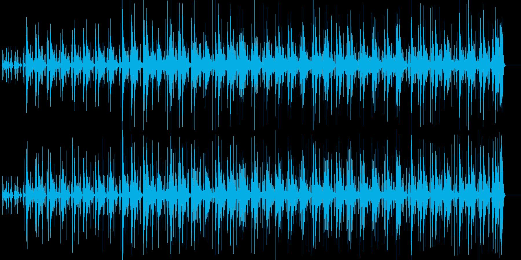 ウクレレが特徴的な南国リゾート風BGMの再生済みの波形