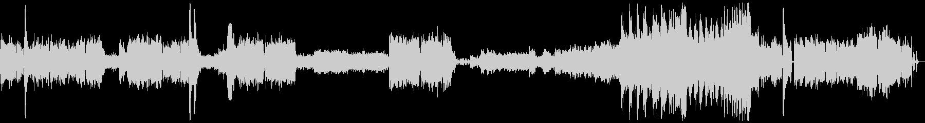 和風の幻想的な楽曲の未再生の波形
