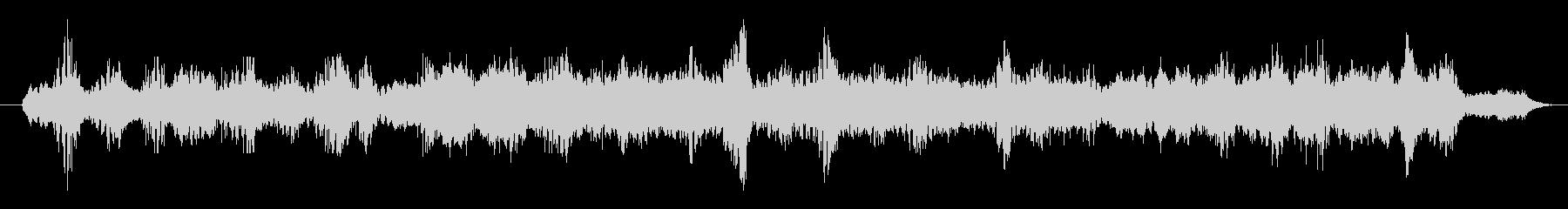 サイケデリックなサウンドトラックの未再生の波形