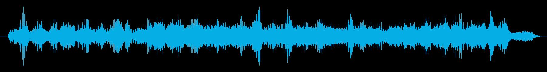 サイケデリックなサウンドトラックの再生済みの波形