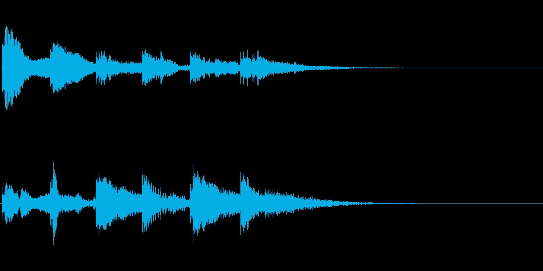 ベルの通知音 やさしい感じの再生済みの波形