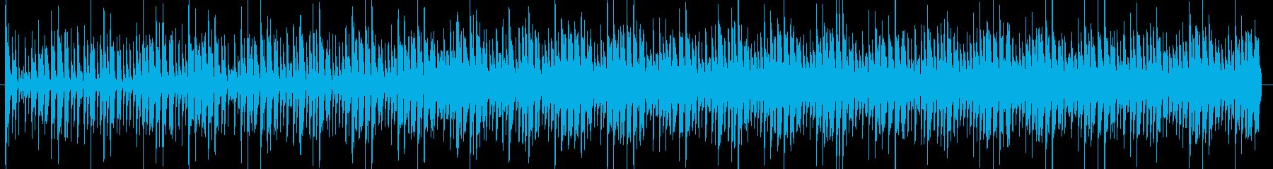 宇宙的な雰囲気のオープニングテクノの再生済みの波形