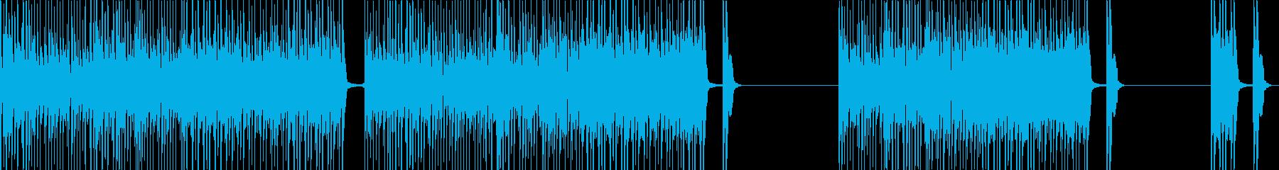 気持ちいいテンポで進む楽しい歌の再生済みの波形