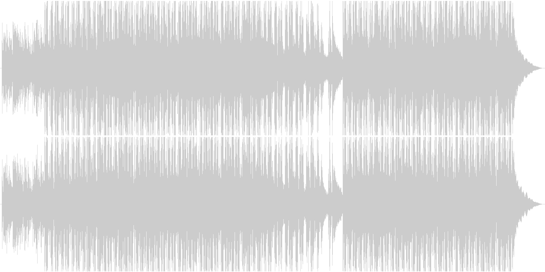 美しく優しいアコースティックサウンドの未再生の波形