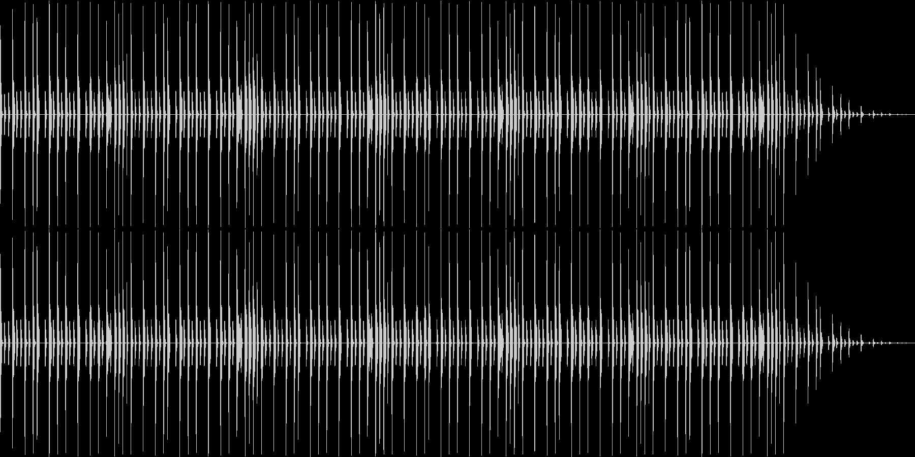 昔のパソコンの音源を使ったリズムループの未再生の波形