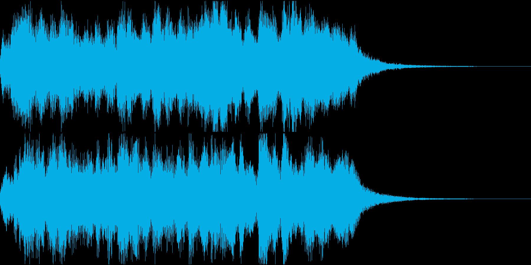 勝利、希望を表現したオーケストラジングルの再生済みの波形