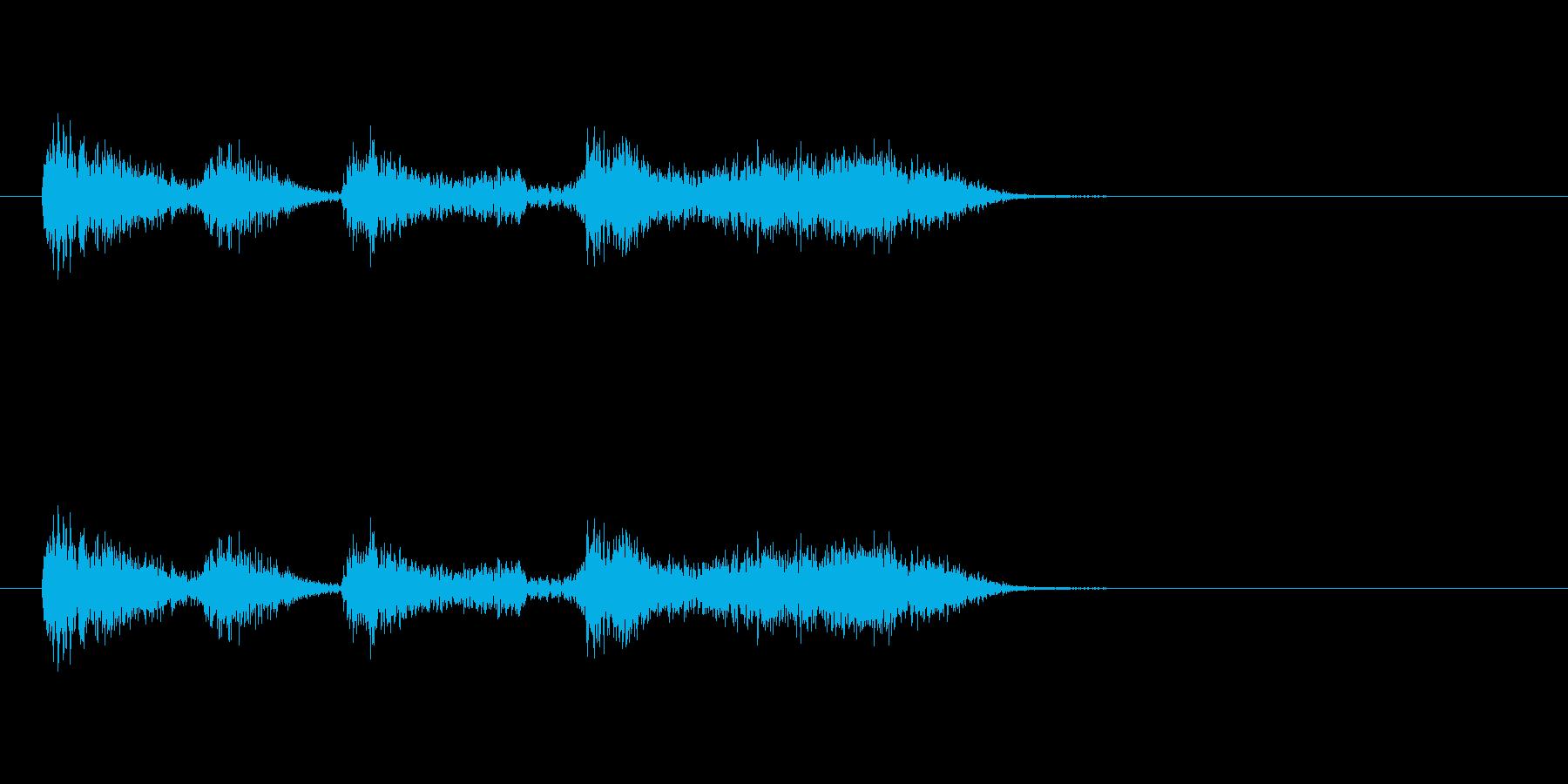 ボコーダー加工ボイスサンプルの再生済みの波形