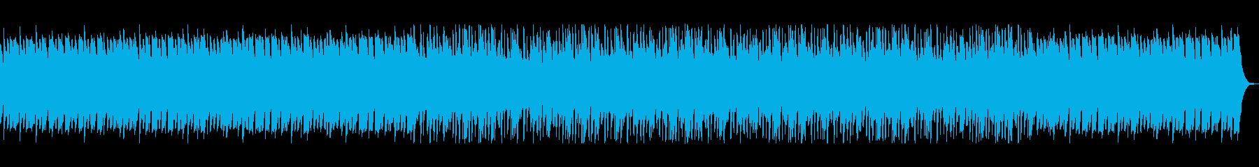 ふんわりした滑らかなヒーリングの曲の再生済みの波形