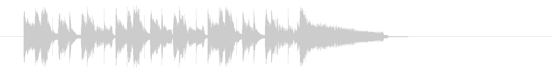 南米のリズムのジングル、サウンドロゴの未再生の波形