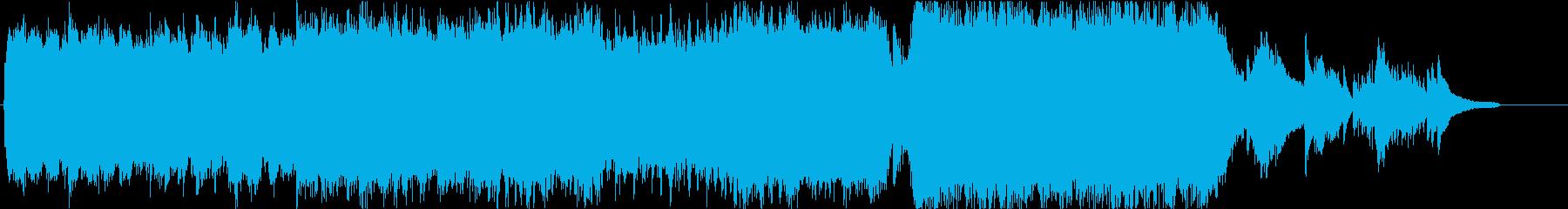 寂しい雰囲気のストリングスの再生済みの波形