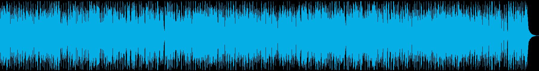 テンションの均一なテクノ系のBGMです。の再生済みの波形