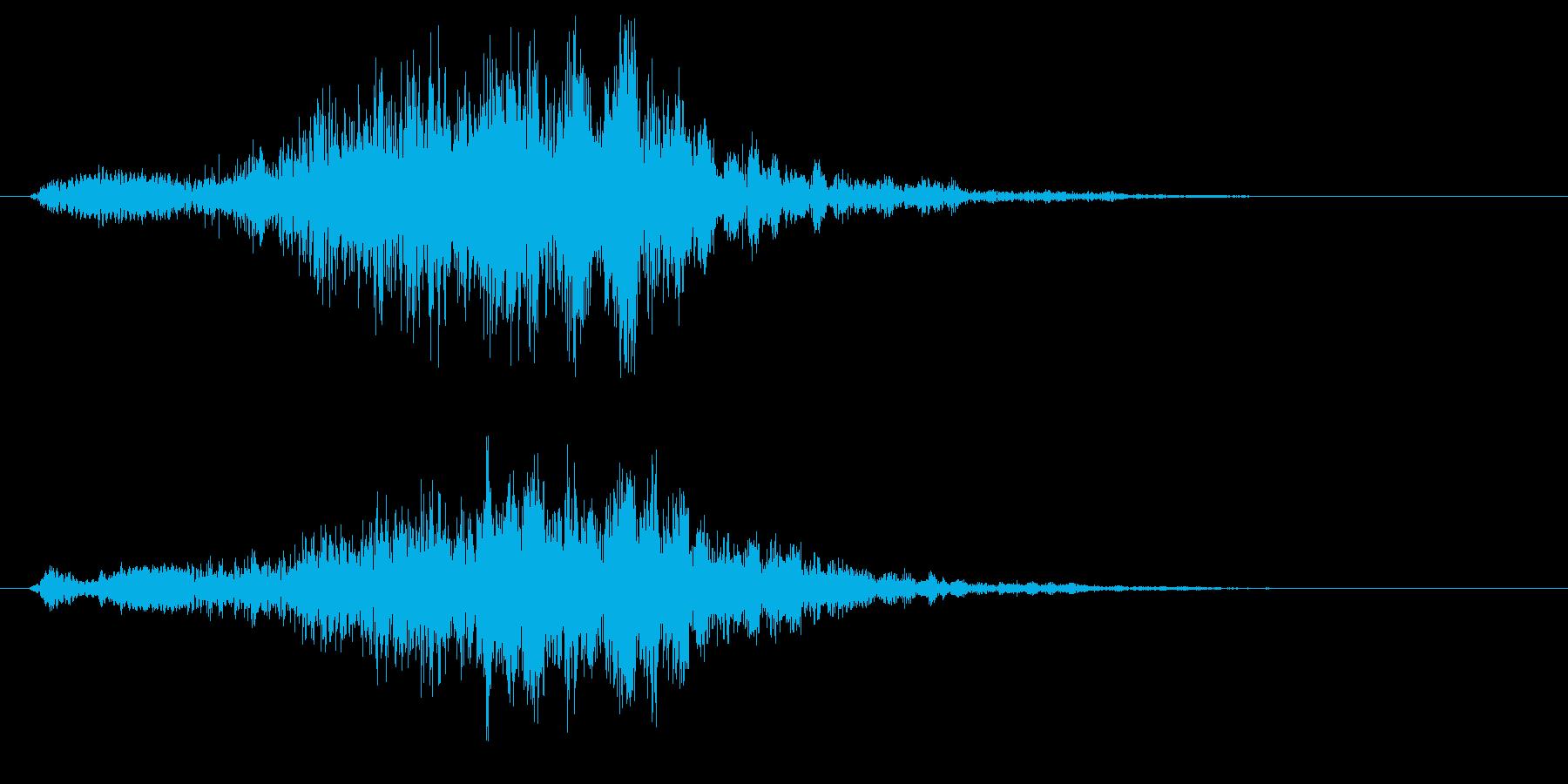 シュウッという陶器のこすれる音の再生済みの波形
