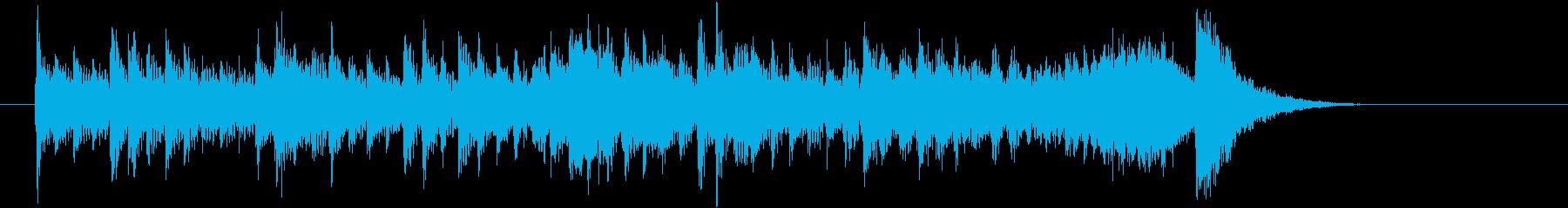 キレの良いストリングスのポップなジングルの再生済みの波形