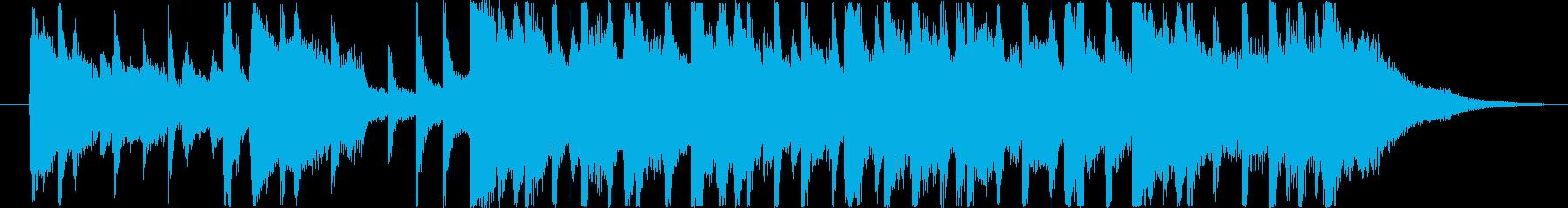 楽しい雰囲気のBGM(15秒ver)の再生済みの波形