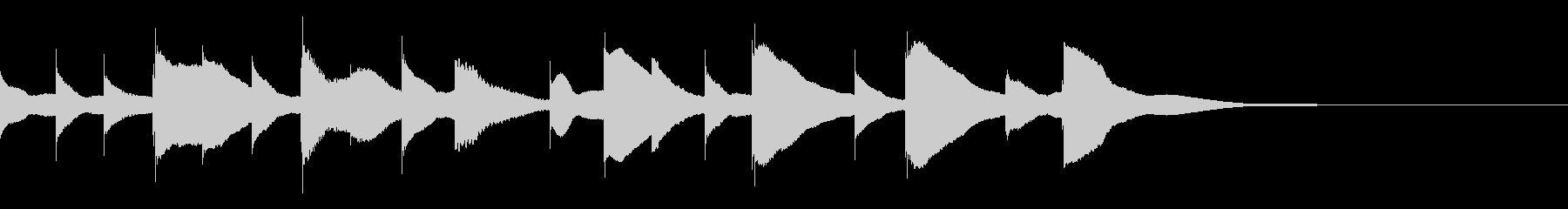 ジングル用オルゴール楽曲03-2の未再生の波形