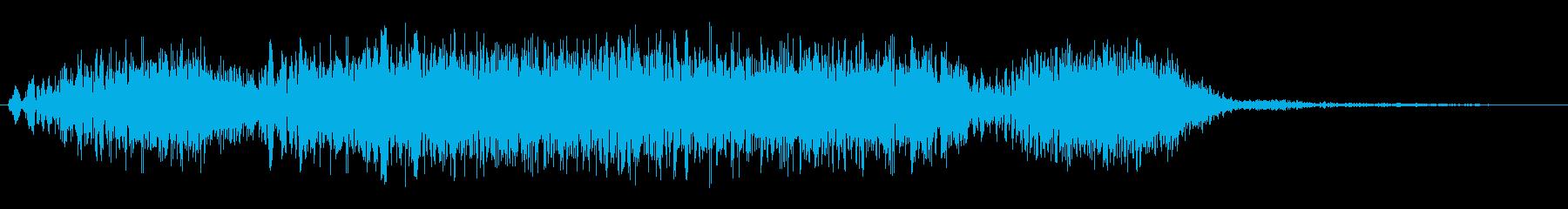 ピュ〜ピュ〜(疾風が吹く効果音)の再生済みの波形