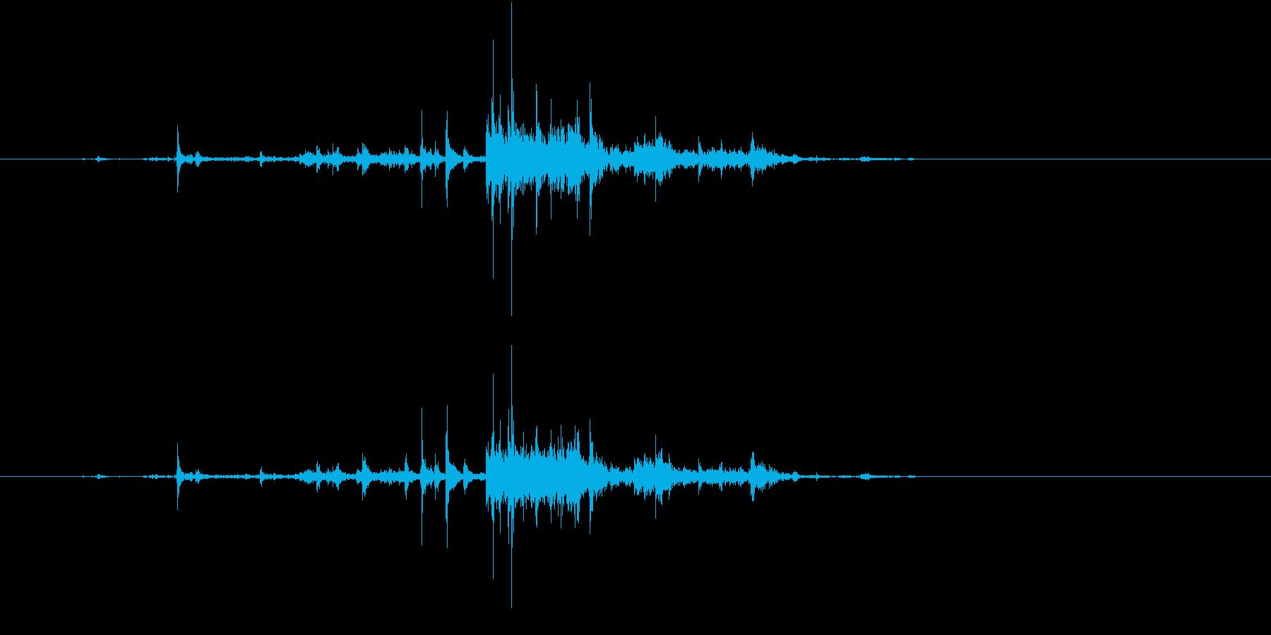 【生録音】ゴミの音 10 分別するの再生済みの波形