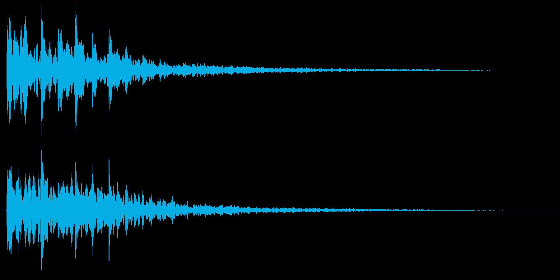 シンセサイザーのキラキラした場面転回音8の再生済みの波形