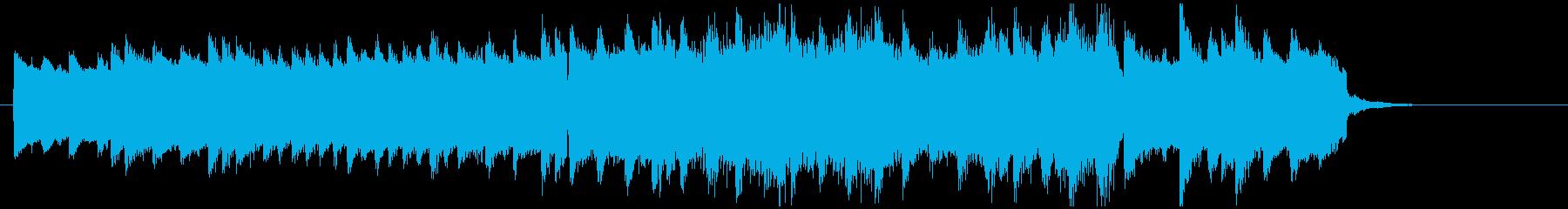 感動的、映画的なピアノの旋律のBGMの再生済みの波形