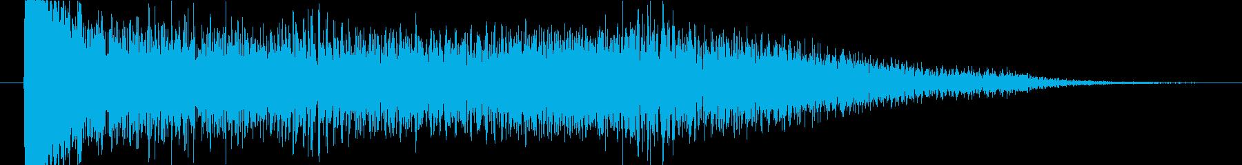 時間・重力系の魔法攻撃音の再生済みの波形