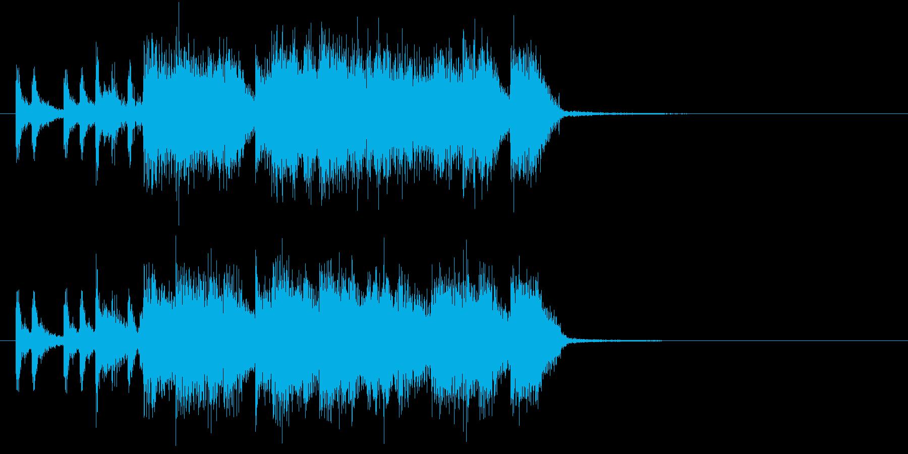 ブラスとバンドサウンドのジングルの再生済みの波形