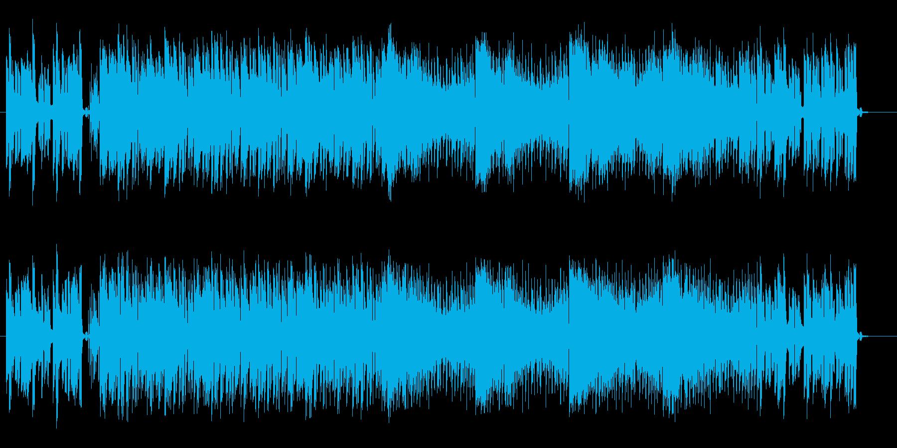 リズムが良くベースが印象的なテクノの再生済みの波形