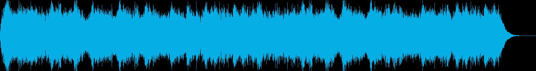 近未来な曲(スマート、電子音、動作音)の再生済みの波形