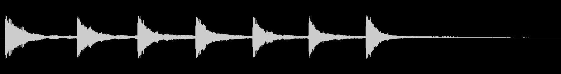 クロック3の未再生の波形