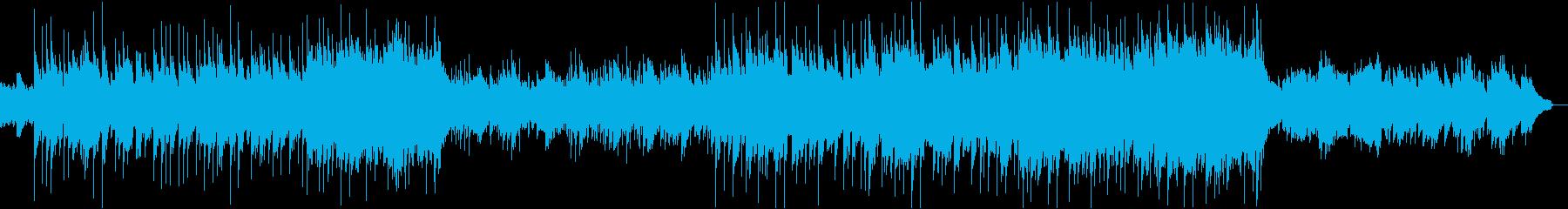 ハープを使った冬のヒーリングソングの再生済みの波形