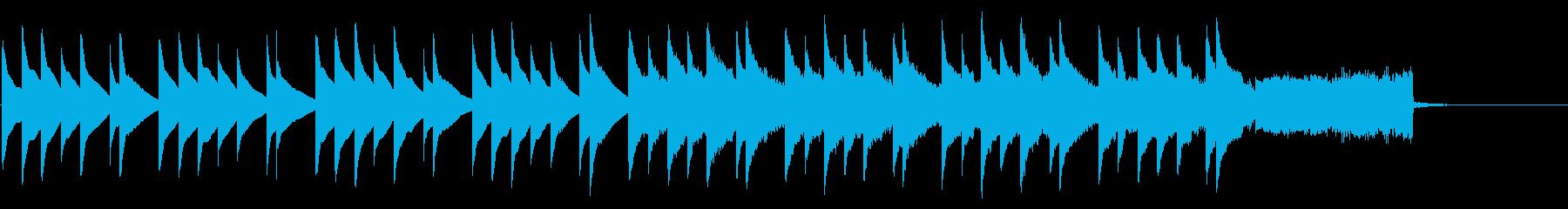 緊張感漂うベルとオルガンの調べの再生済みの波形