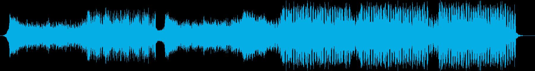 夏の爽やかな海外風の四つ打ちEDMの再生済みの波形