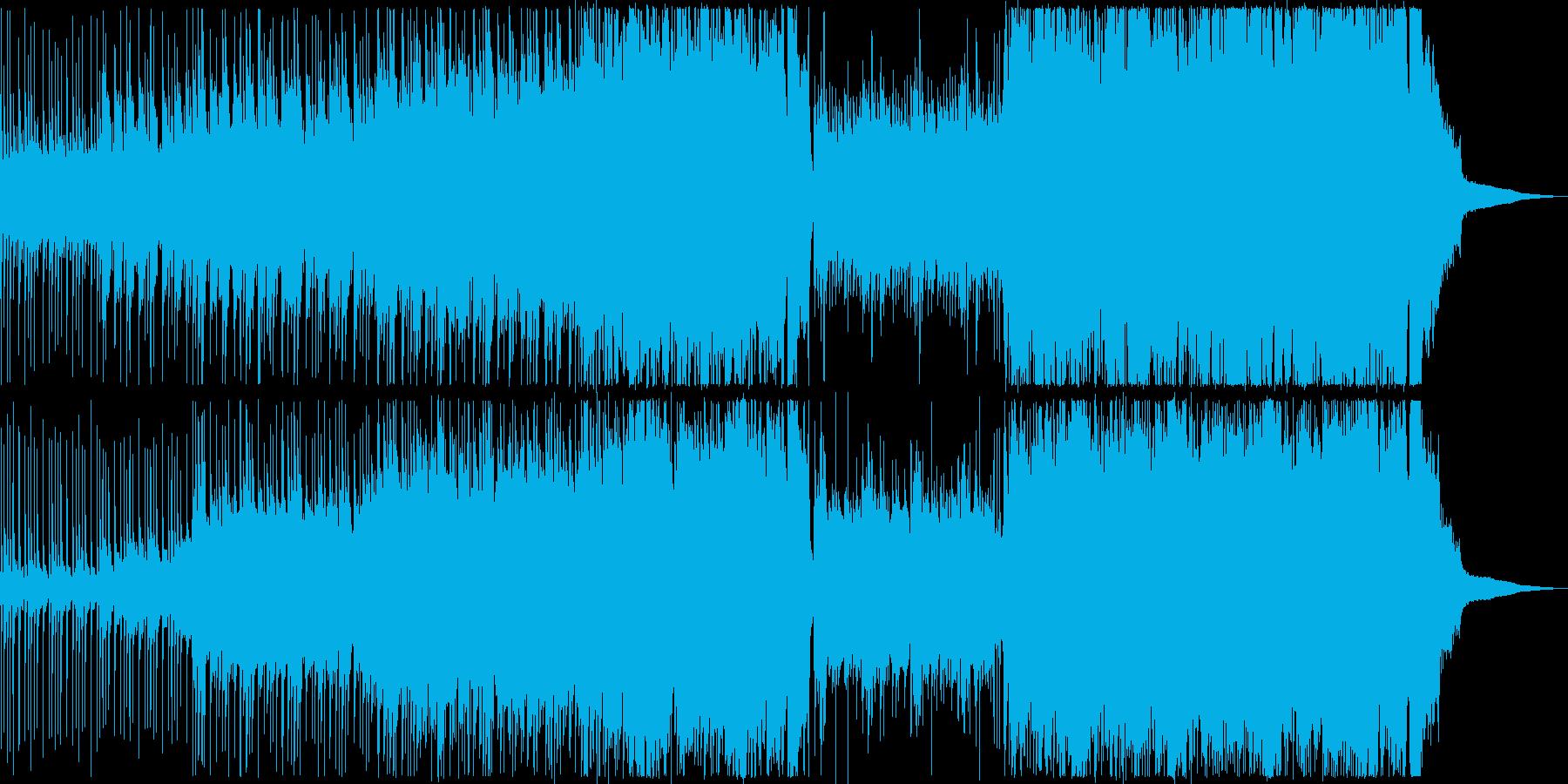 ピアノやギターを使用した明るい曲の再生済みの波形