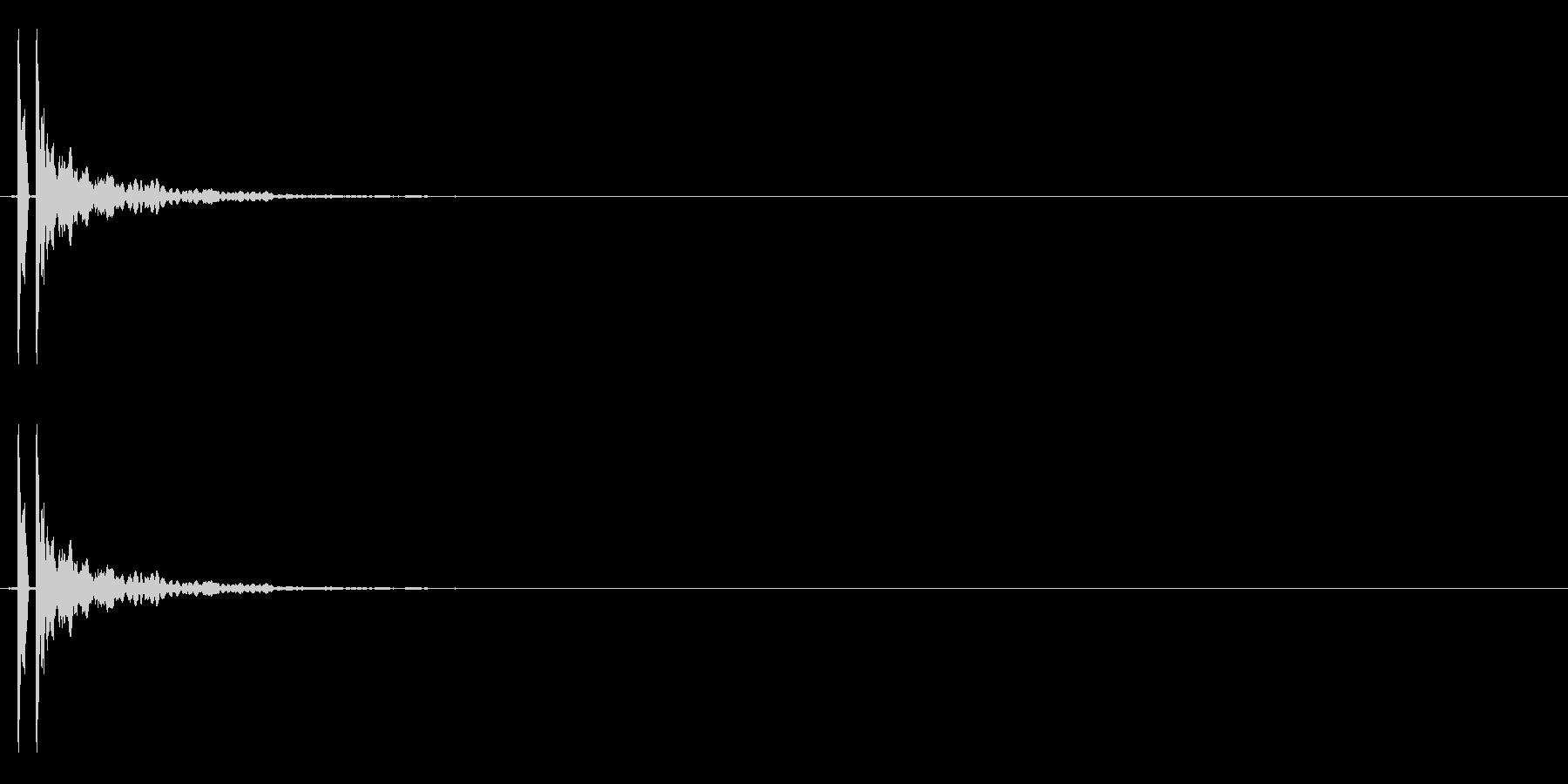 【ポン!】とてもリアルな太鼓の鼓!04の未再生の波形