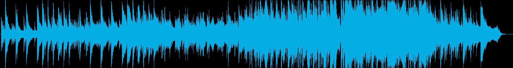 メロディのきれいな憂いのあるピアノ曲の再生済みの波形