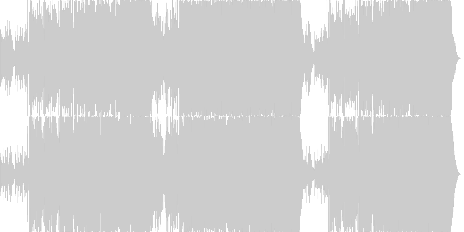 フィドルが楽しいカントリー系ロックの未再生の波形