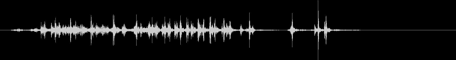 【生録音】カッターナイフの音 15の未再生の波形