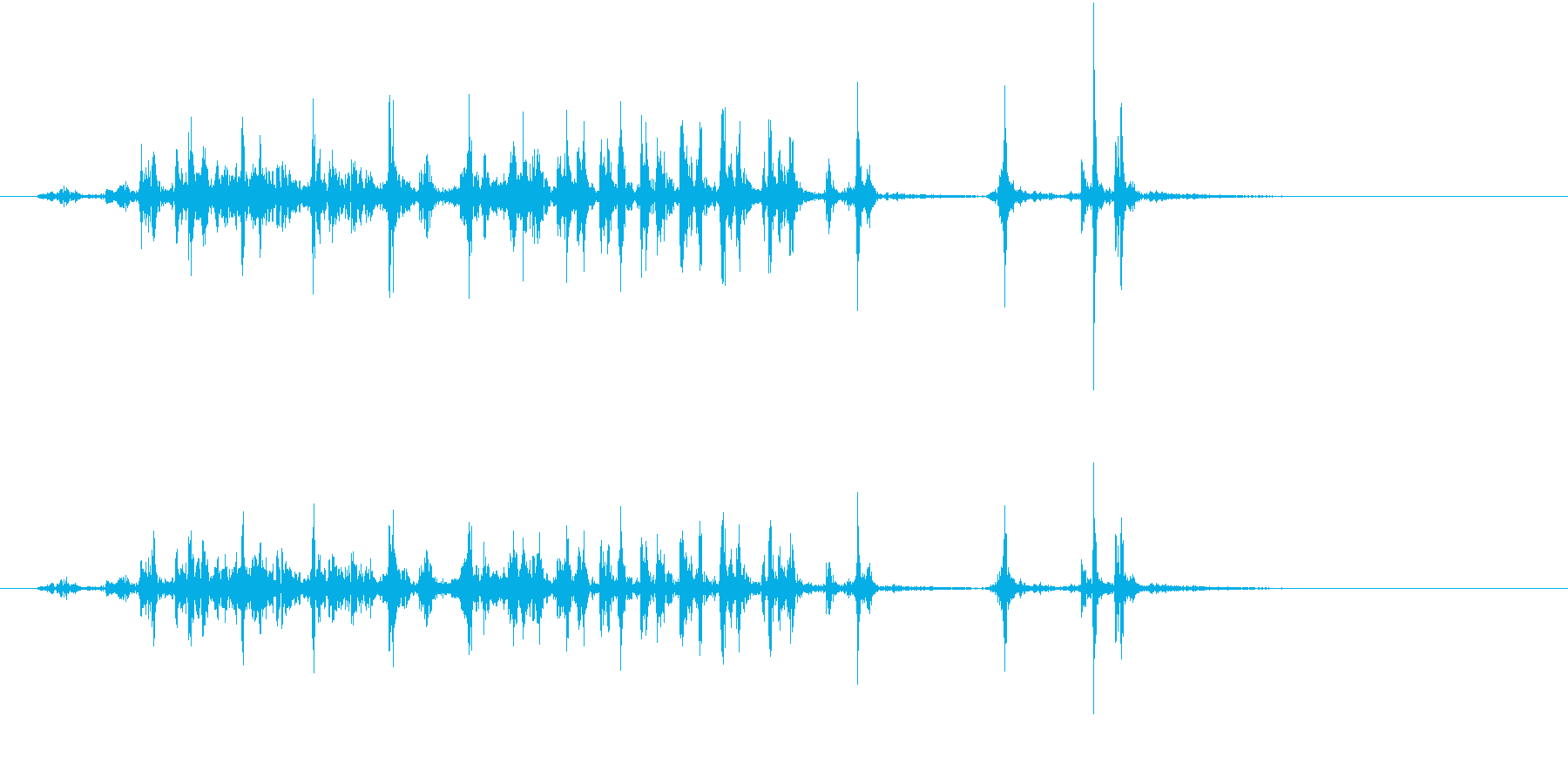 【生録音】カッターナイフの音 15の再生済みの波形