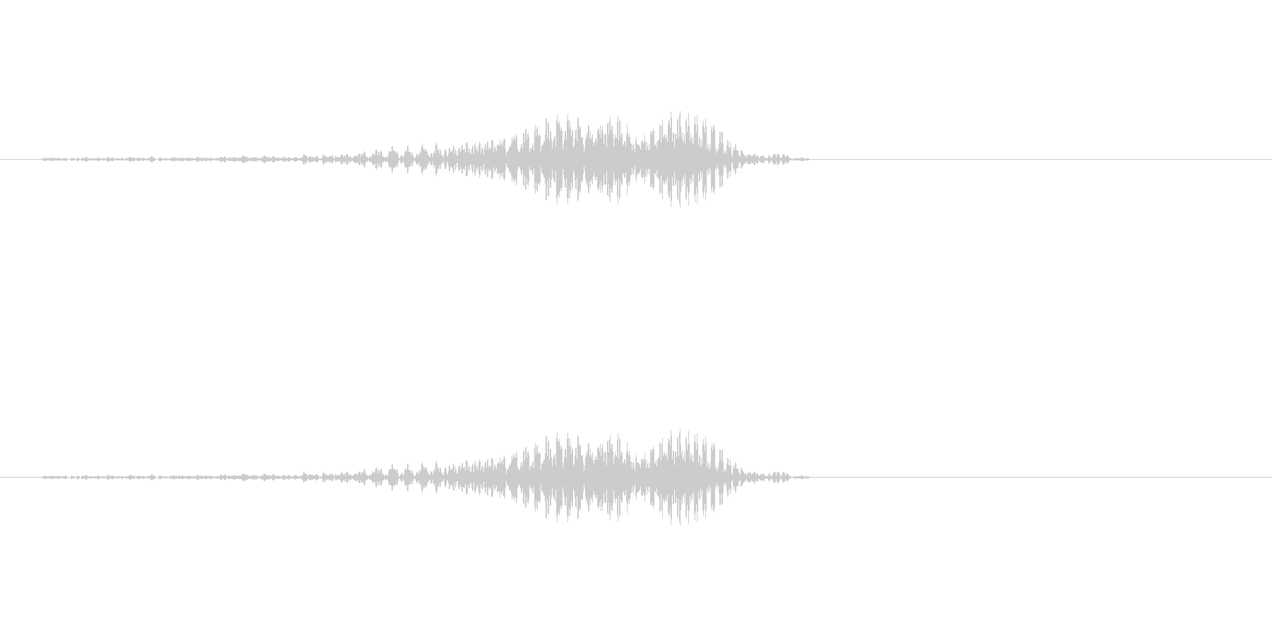 「おーっ!」 男性 掛け声 の未再生の波形