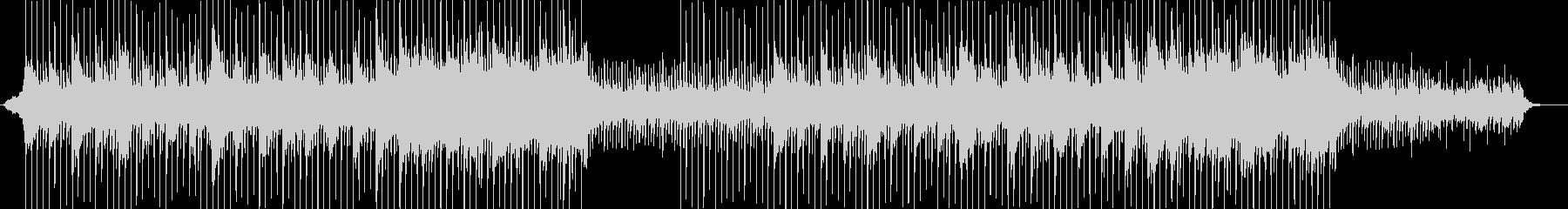 ひたむきに進んでゆくイメージのBGMの未再生の波形