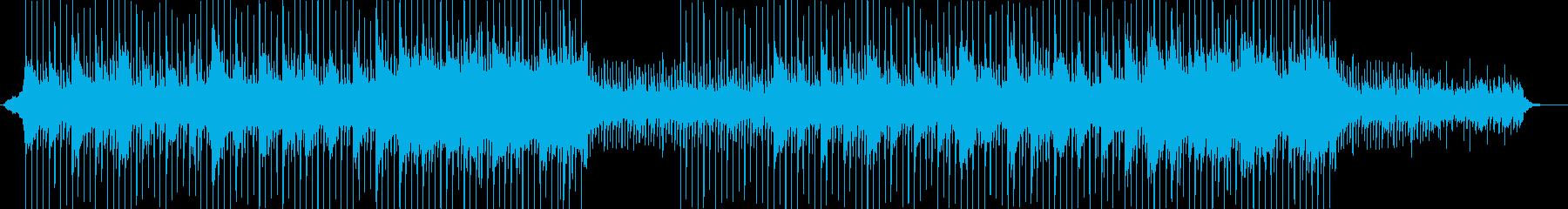 ひたむきに進んでゆくイメージのBGMの再生済みの波形