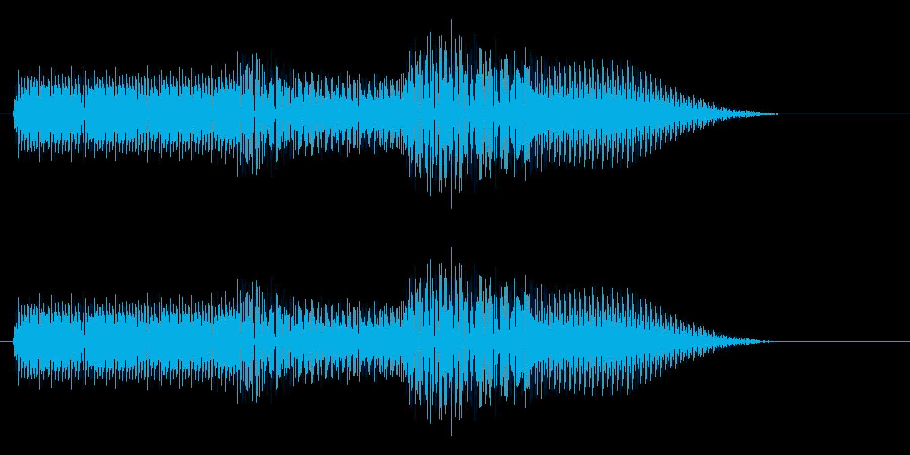 ボタン押下や決定音_キュルリッ!の再生済みの波形