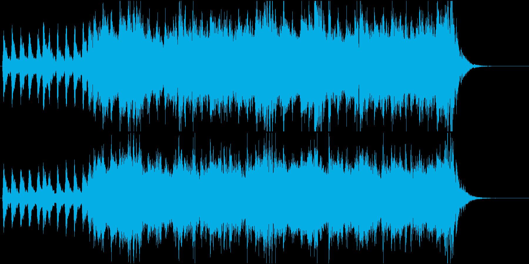 映画予告編風激しめのオーケストラの再生済みの波形