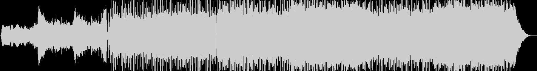 バトル系ロックギターBGMの未再生の波形