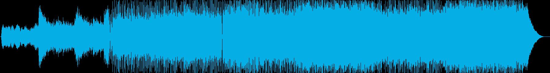 バトル系ロックギターBGMの再生済みの波形